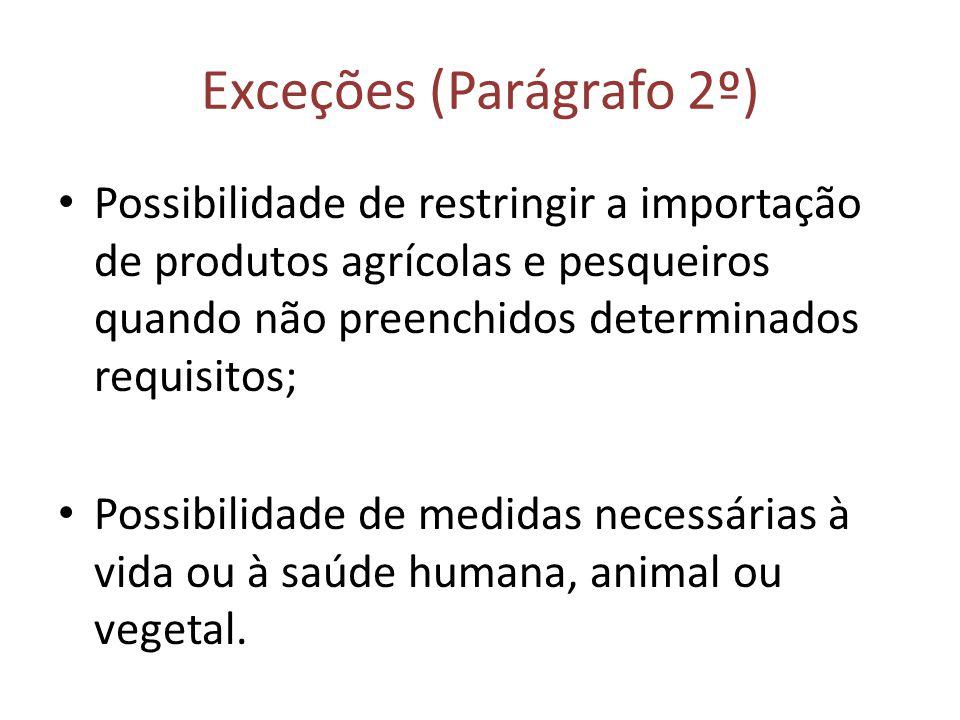 Exceções (Parágrafo 2º)