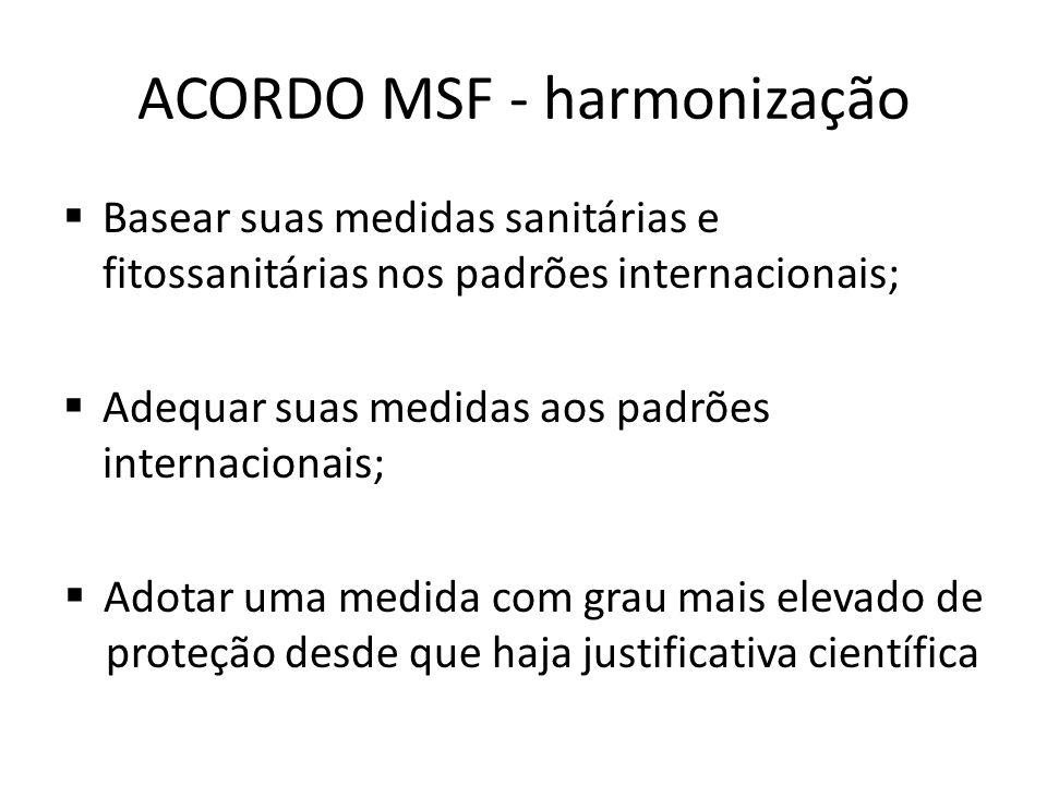 ACORDO MSF - harmonização