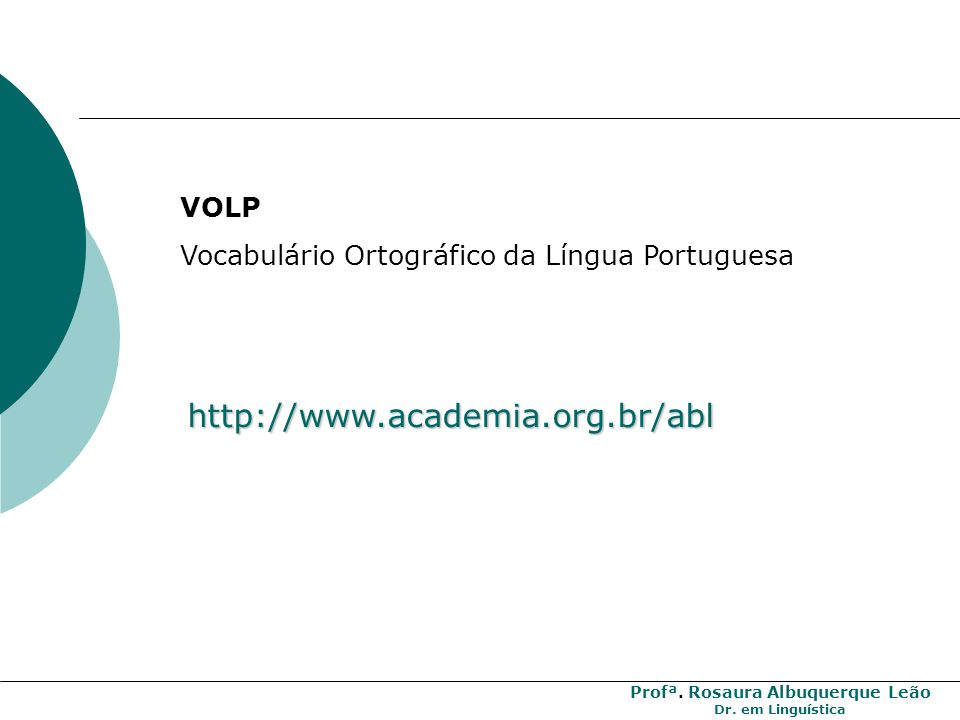 http://www.academia.org.br/abl VOLP