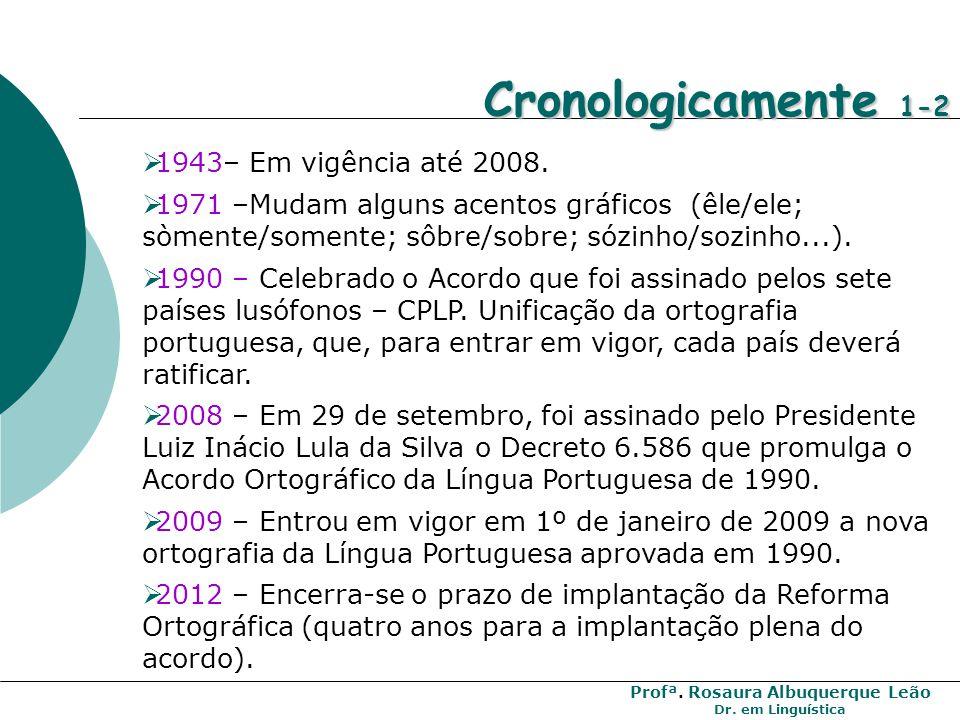 Cronologicamente 1-2 1943– Em vigência até 2008.