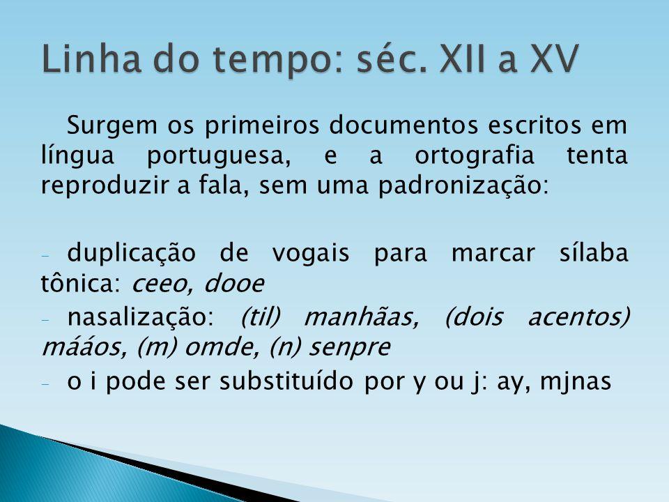 Linha do tempo: séc. XII a XV