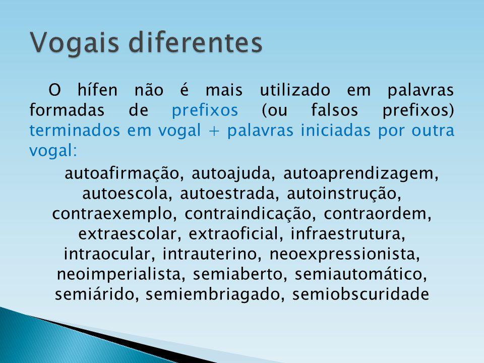 Vogais diferentes