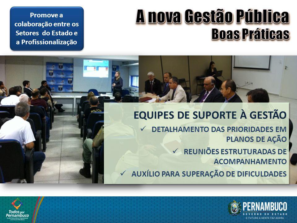 A nova Gestão Pública Boas Práticas EQUIPES DE SUPORTE À GESTÃO