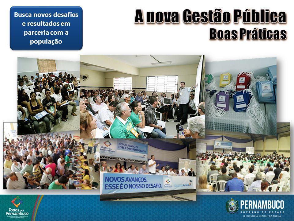 Busca novos desafios e resultados em parceria com a população