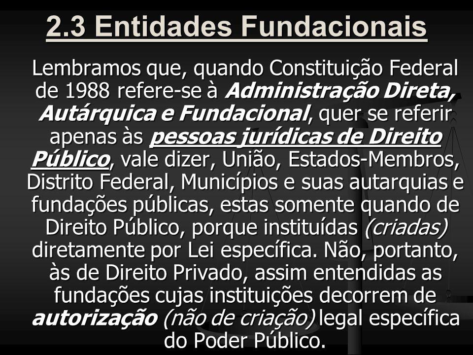 2.3 Entidades Fundacionais