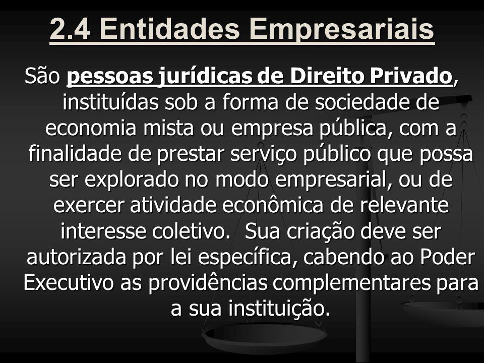 2.4 Entidades Empresariais