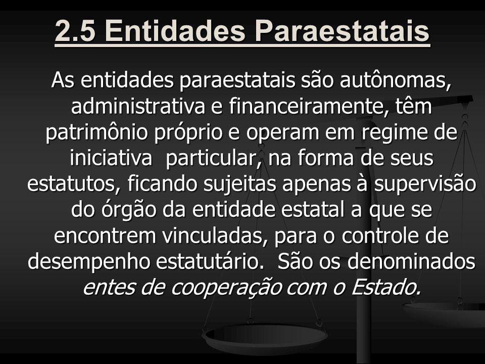 2.5 Entidades Paraestatais