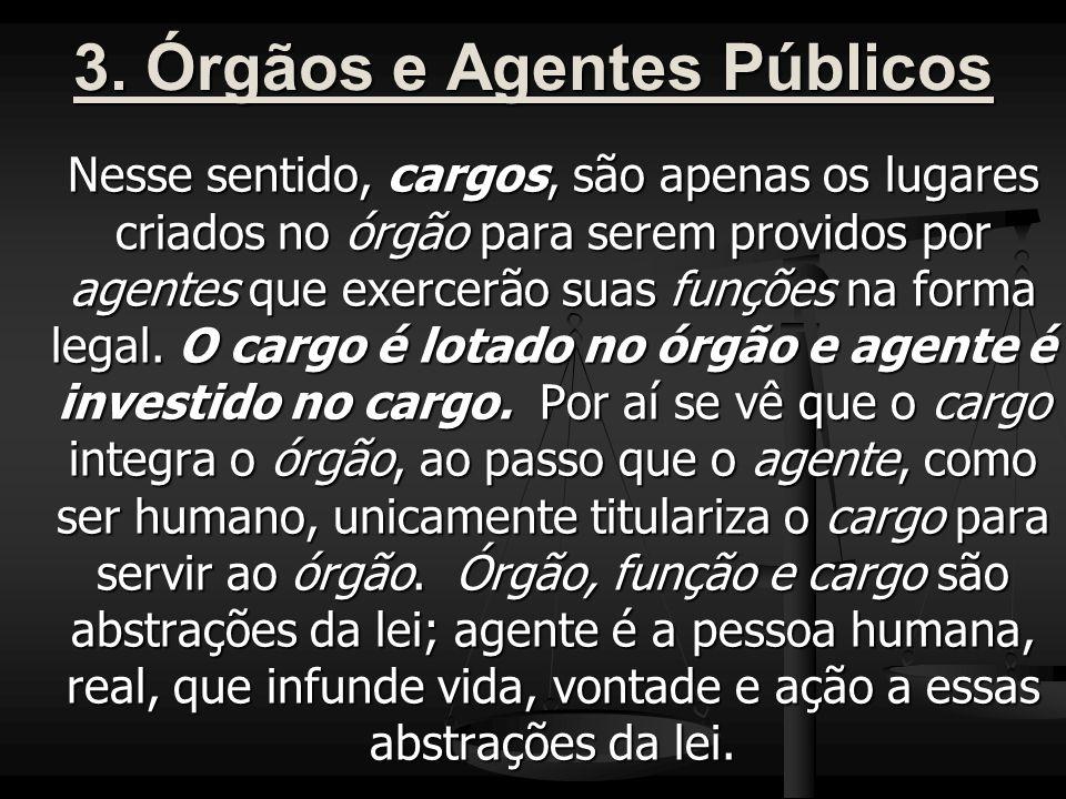 3. Órgãos e Agentes Públicos