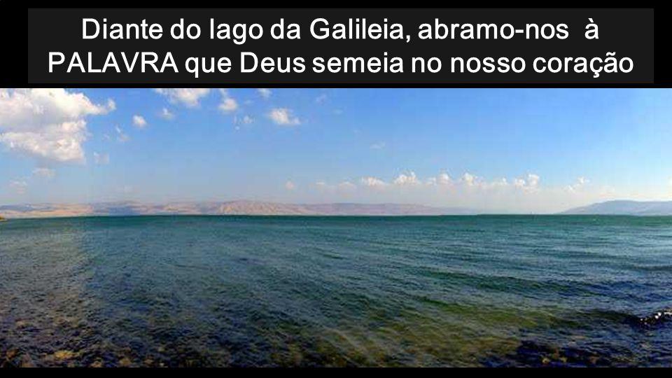 Diante do lago da Galileia, abramo-nos à PALAVRA que Deus semeia no nosso coração