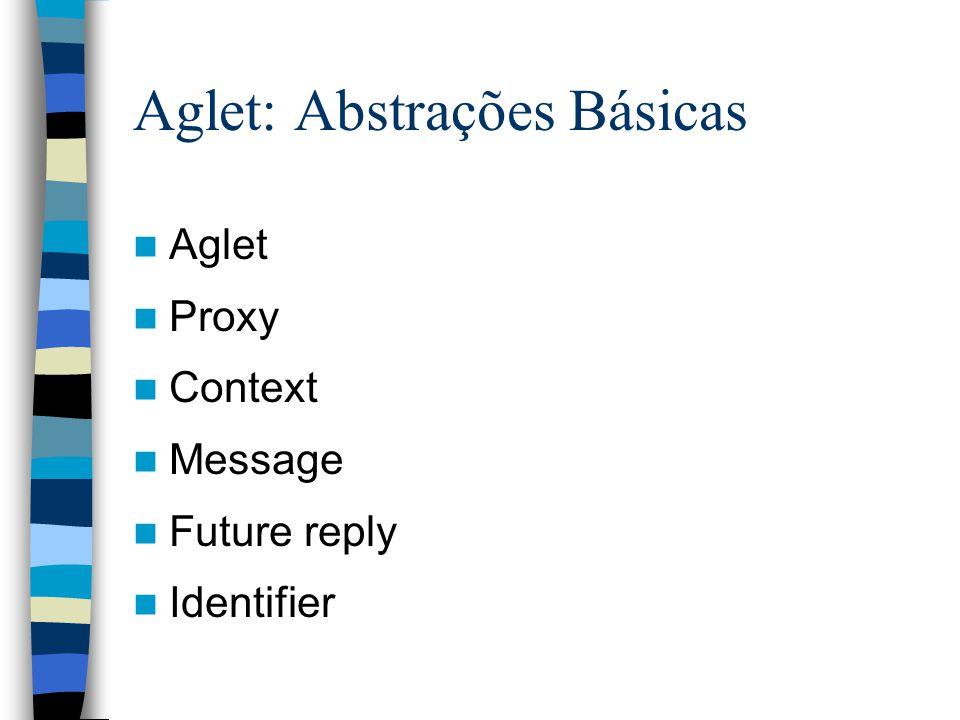 Aglet: Abstrações Básicas