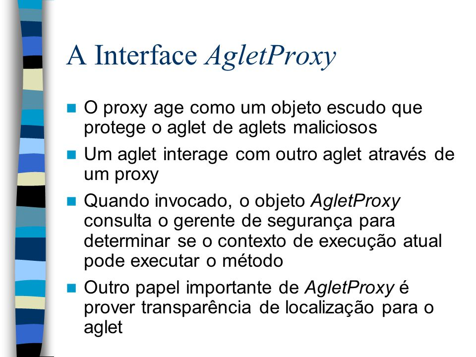 A Interface AgletProxy