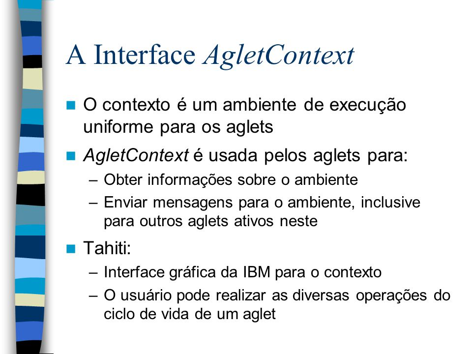A Interface AgletContext