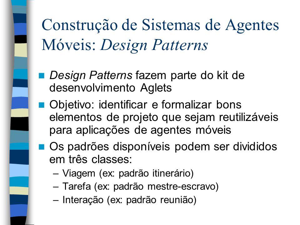 Construção de Sistemas de Agentes Móveis: Design Patterns