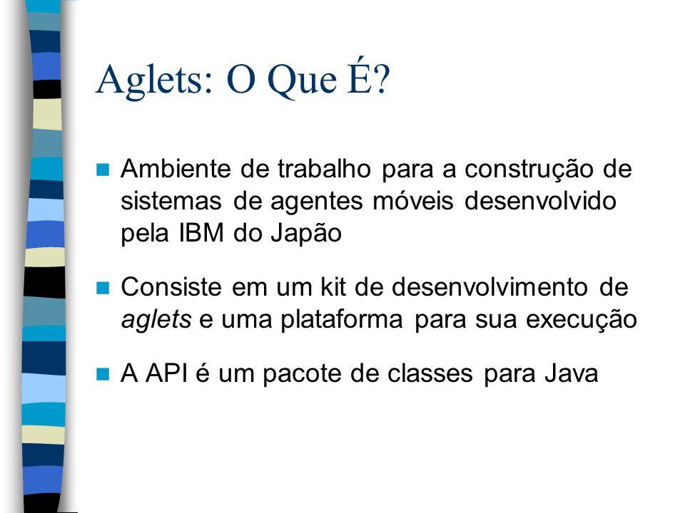 Aglets: O Que É Ambiente de trabalho para a construção de sistemas de agentes móveis desenvolvido pela IBM do Japão.