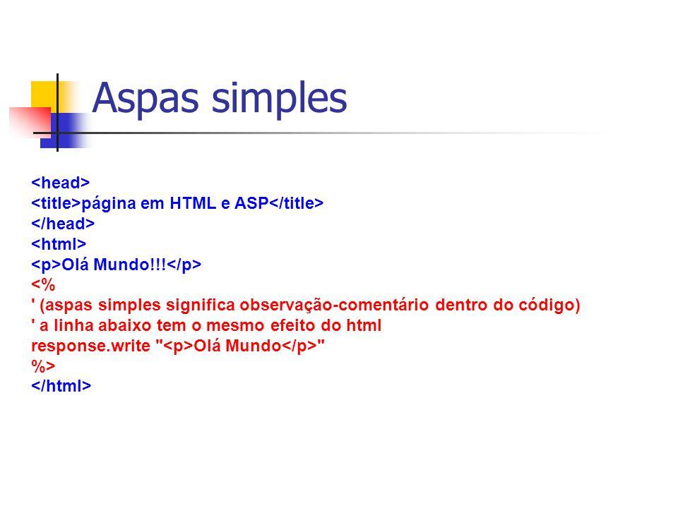 Aspas simples <head>
