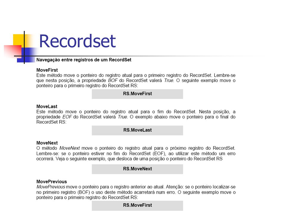 Recordset