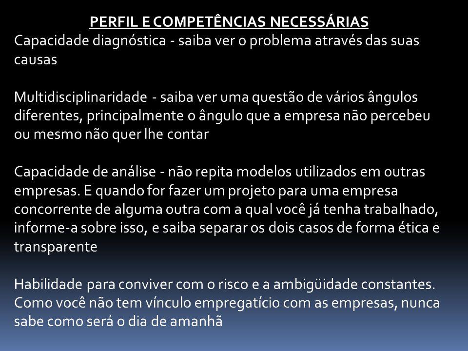 PERFIL E COMPETÊNCIAS NECESSÁRIAS