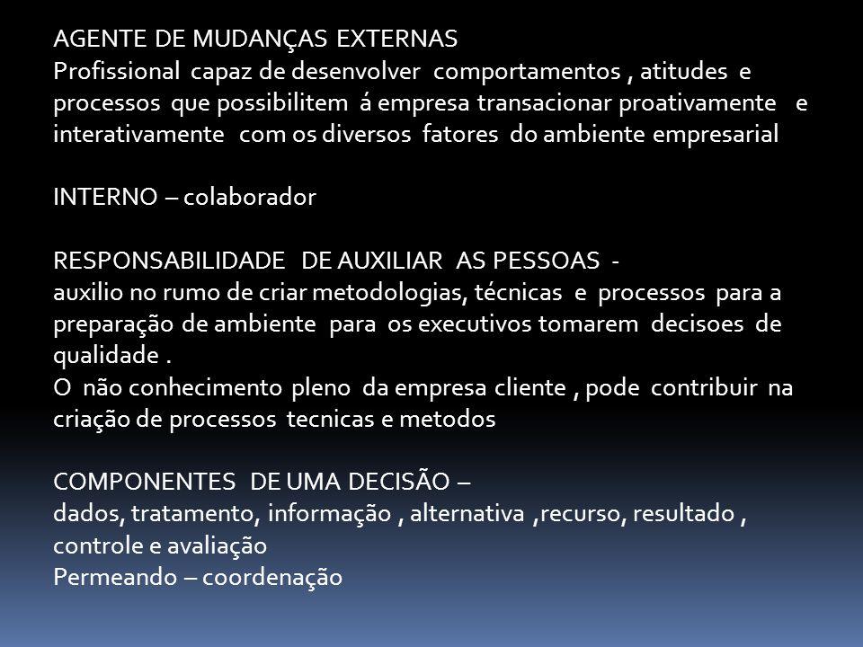 AGENTE DE MUDANÇAS EXTERNAS