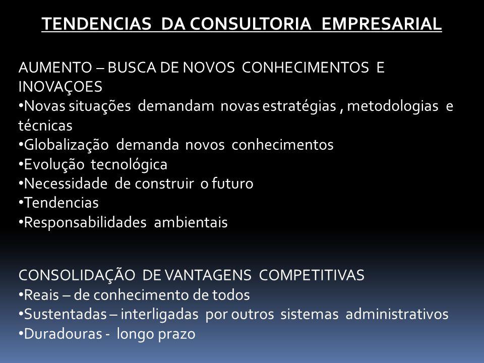 TENDENCIAS DA CONSULTORIA EMPRESARIAL