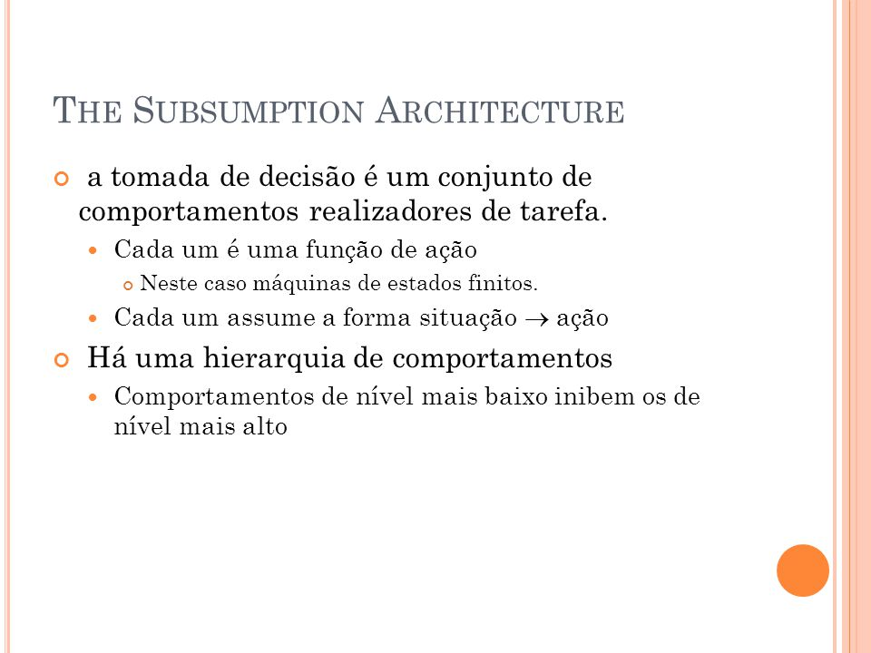The Subsumption Architecture