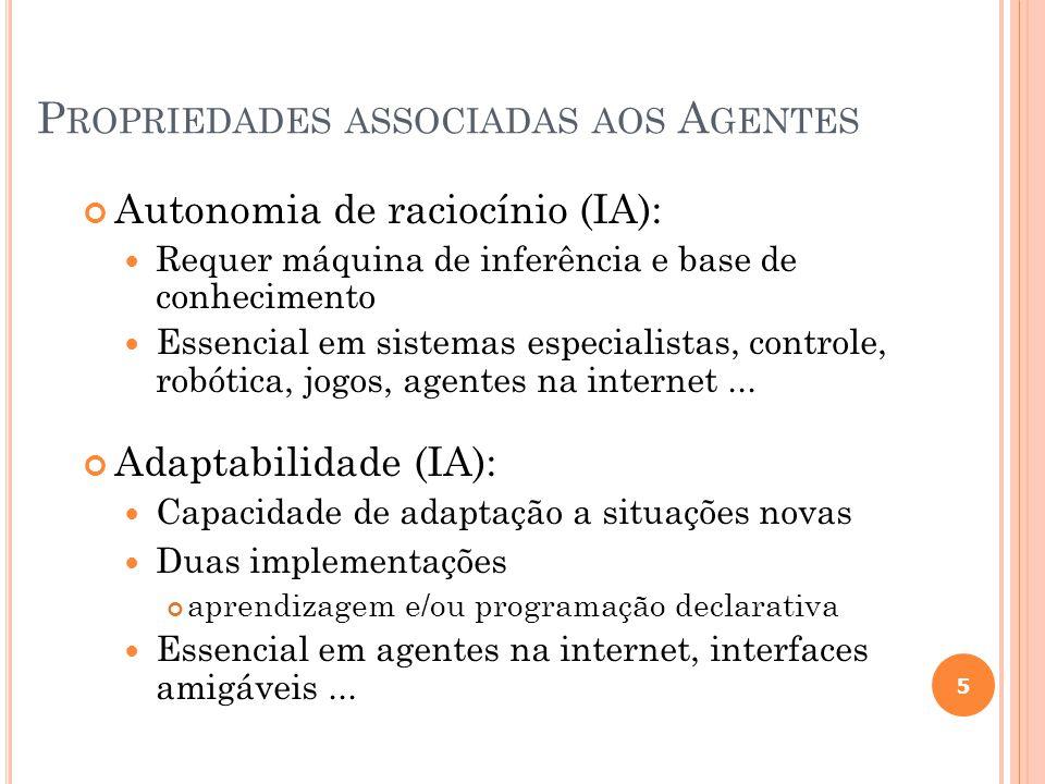 Propriedades associadas aos Agentes