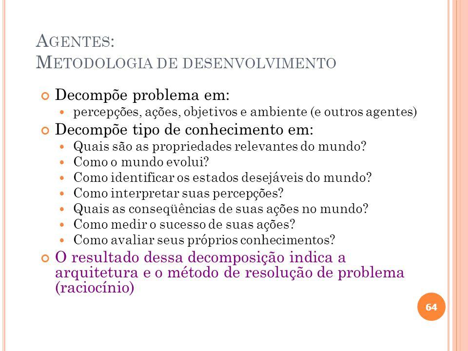 Agentes: Metodologia de desenvolvimento