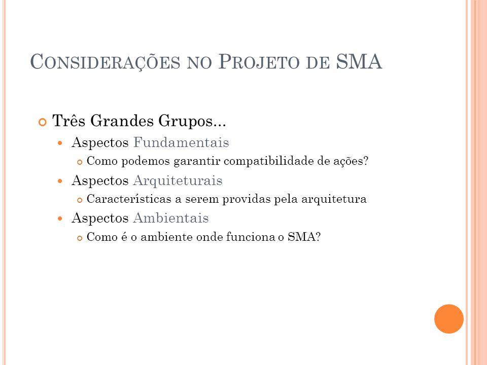 Considerações no Projeto de SMA