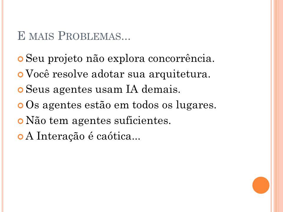 E mais Problemas... Seu projeto não explora concorrência.