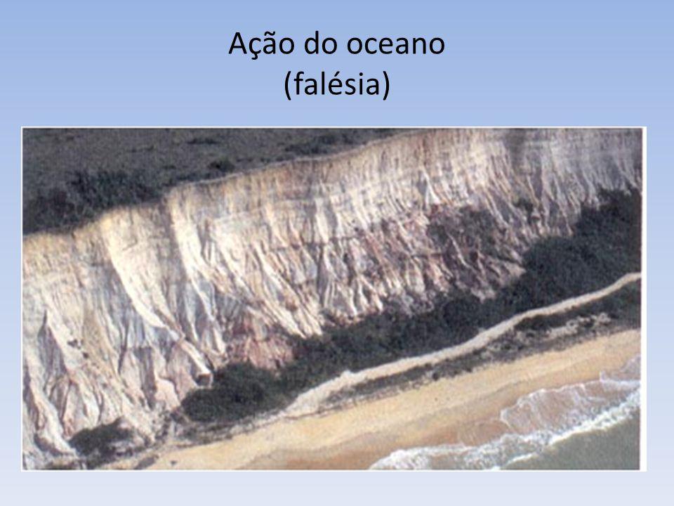 Ação do oceano (falésia)