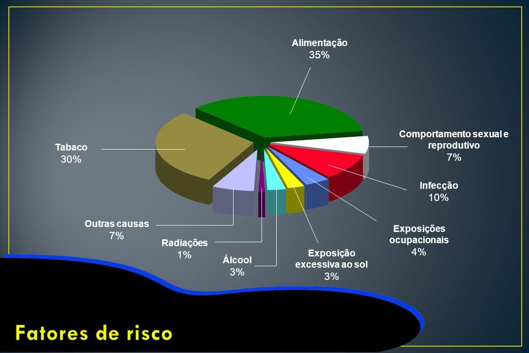 Fatores de risco 35% 7% 30% 10% 7% 4% 1% 3% 3% Alimentação