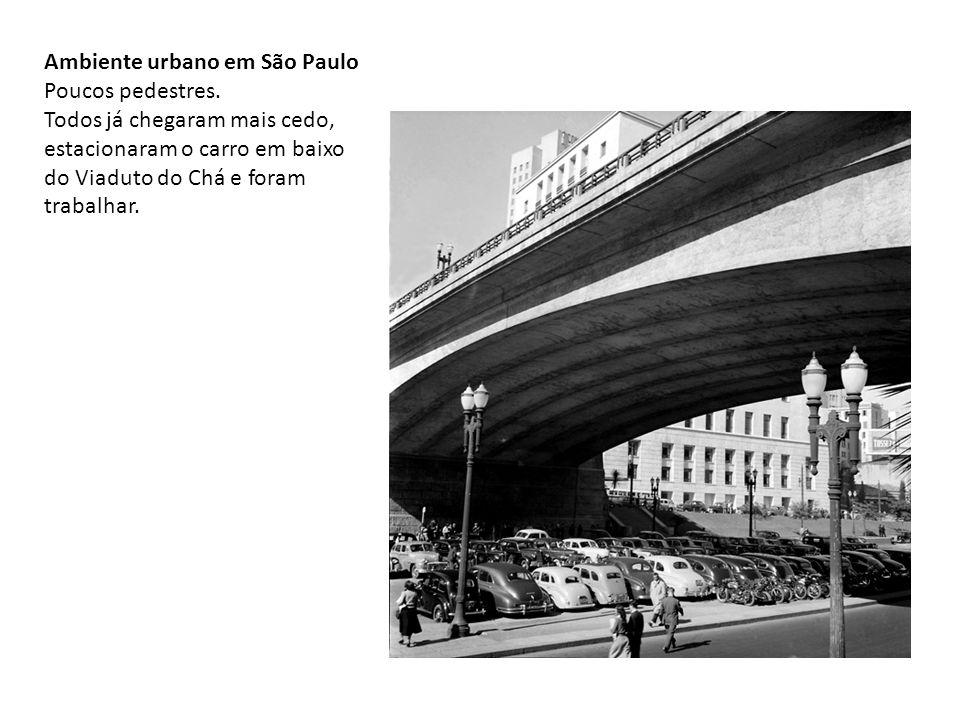 Ambiente urbano em São Paulo