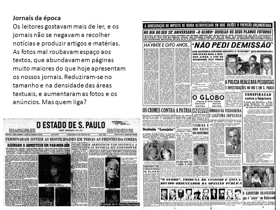 Jornais da época
