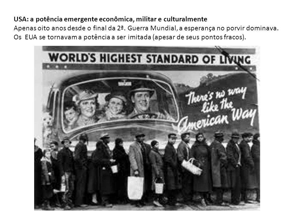 USA: a potência emergente econômica, militar e culturalmente