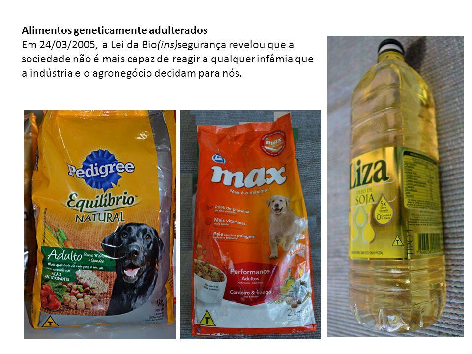 Alimentos geneticamente adulterados