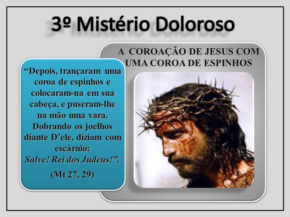 A COROAÇÃO DE JESUS COM UMA COROA DE ESPINHOS