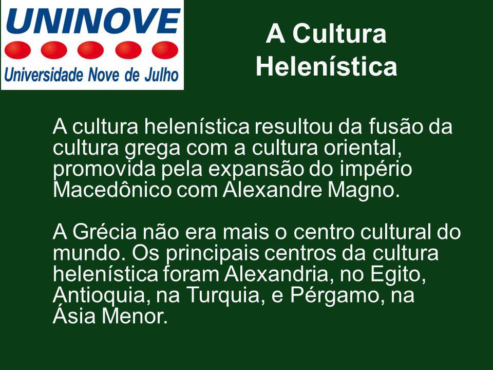 A Cultura Helenística
