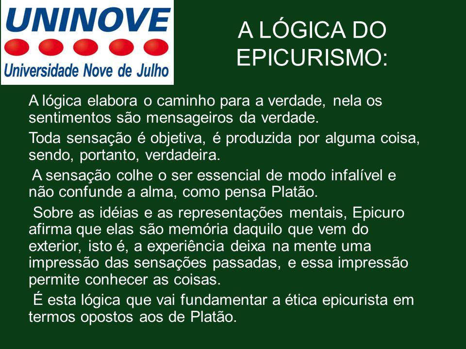 A LÓGICA DO EPICURISMO: