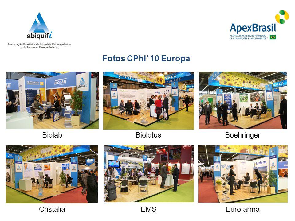 Fotos CPhI' 10 Europa Biolab Biolotus Boehringer Cristália EMS