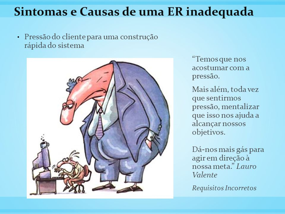 Sintomas e Causas de uma ER inadequada