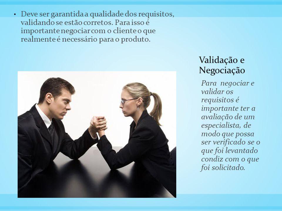 Validação e Negociação