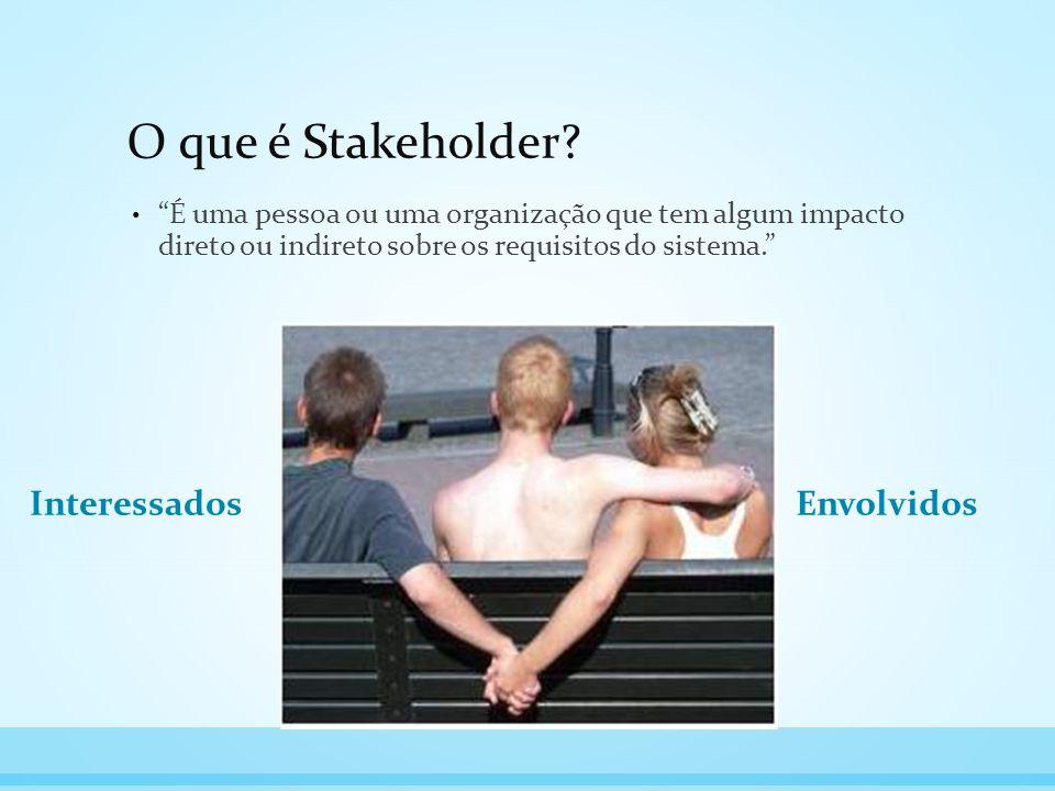 O que é Stakeholder Interessados Envolvidos