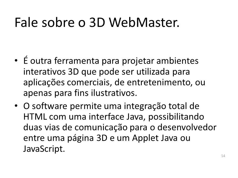 Fale sobre o 3D WebMaster.