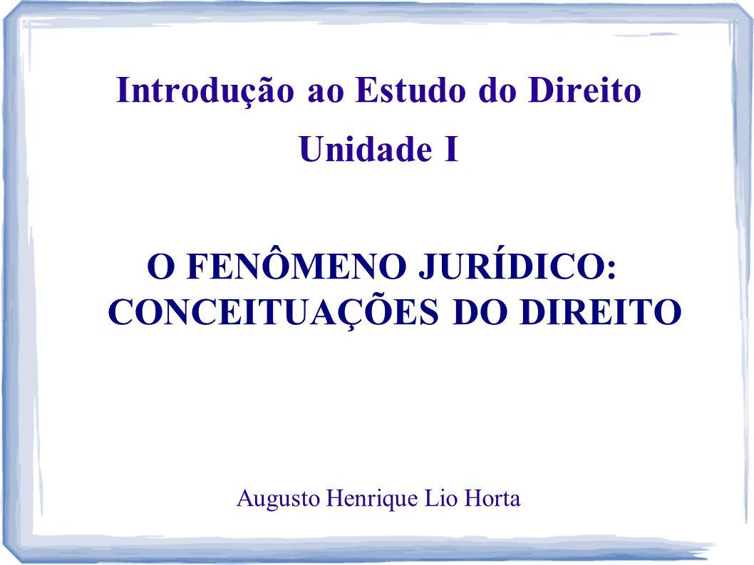 Introdução ao Estudo do Direito Unidade I
