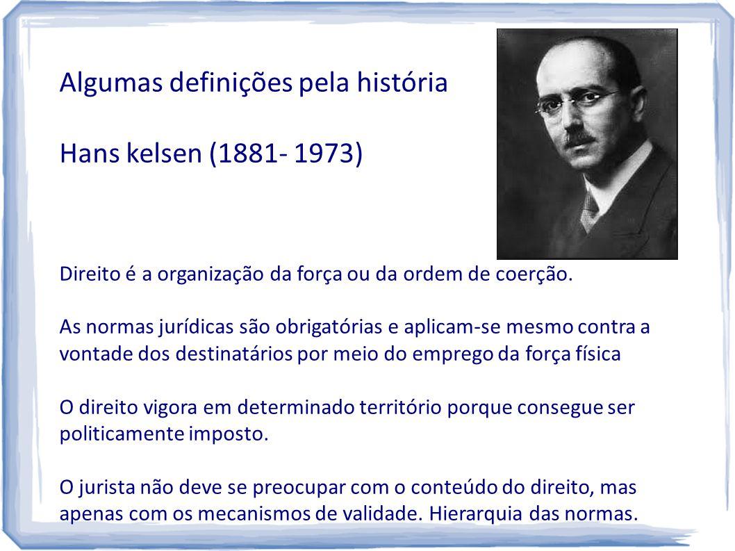 Algumas definições pela história Hans kelsen (1881- 1973)