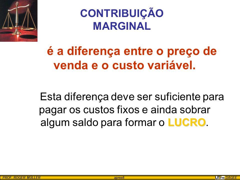 CONTRIBUIÇÃO MARGINAL