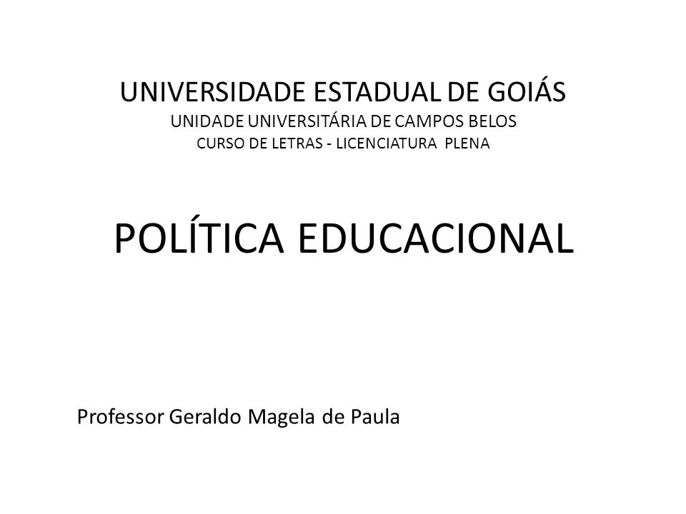 Professor Geraldo Magela de Paula