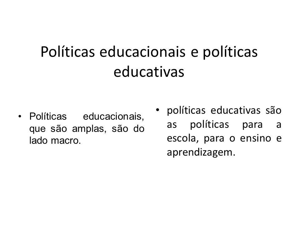 Políticas educacionais e políticas educativas