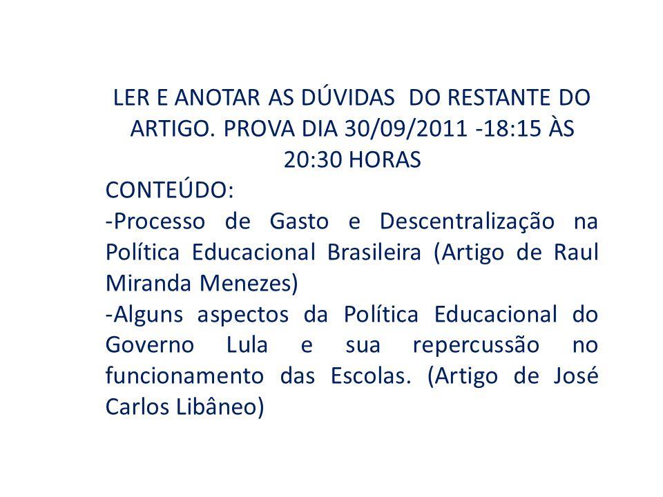 LER E ANOTAR AS DÚVIDAS DO RESTANTE DO ARTIGO