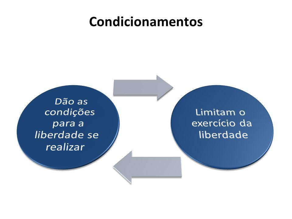 Condicionamentos Dão as condições para a liberdade se realizar