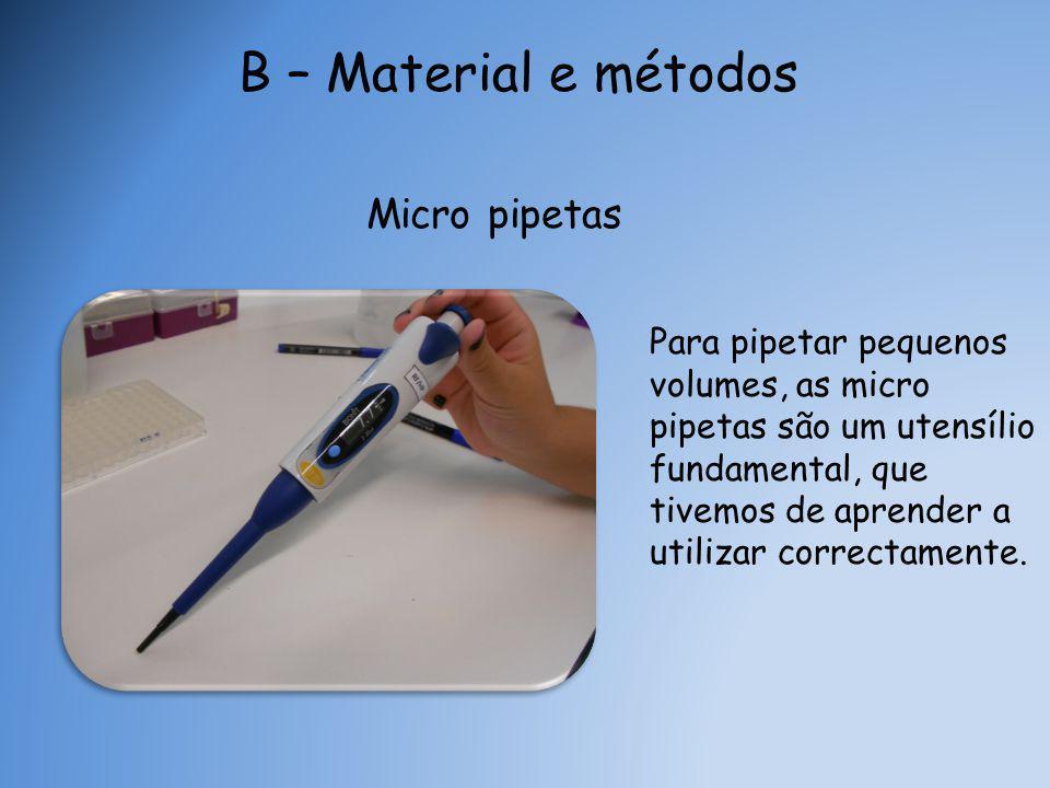 B – Material e métodos Micro pipetas